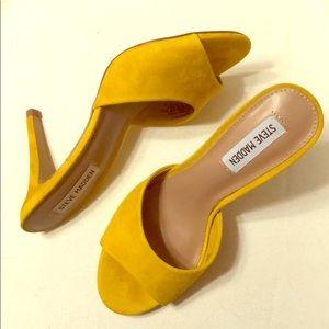 Yellow Suede Steve Madden Heels! NWOT!